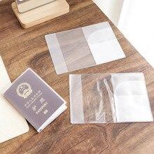 1 шт. 18,5x13,5 см прозрачная Высококачественная износостойкая Обложка для паспорта Управление ID картой защита для путешествий L* 5