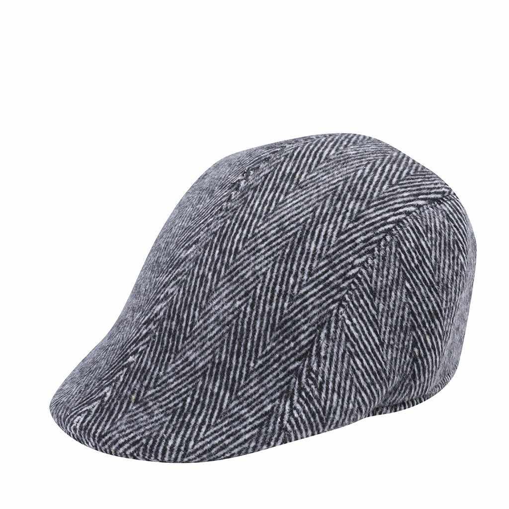 قبعات كلاسيكية مخططة للرجال والنساء قبعات كلاسيكية لينة على شكل قطيع مزودة بتهوية من نسيج كاجول وبطانة مريحة للشتاء