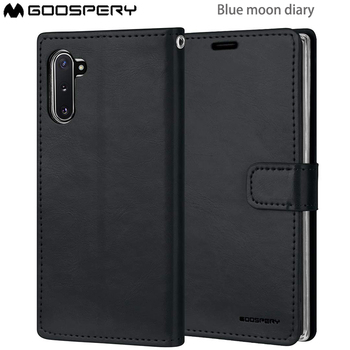 Oryginalny merkury Goospery niebieski księżyc pamiętnik PU skórzany magnes etui flip wallet skrzynki pokrywa dla Samsung Galaxy A6 2018 A6 PLUS 2018