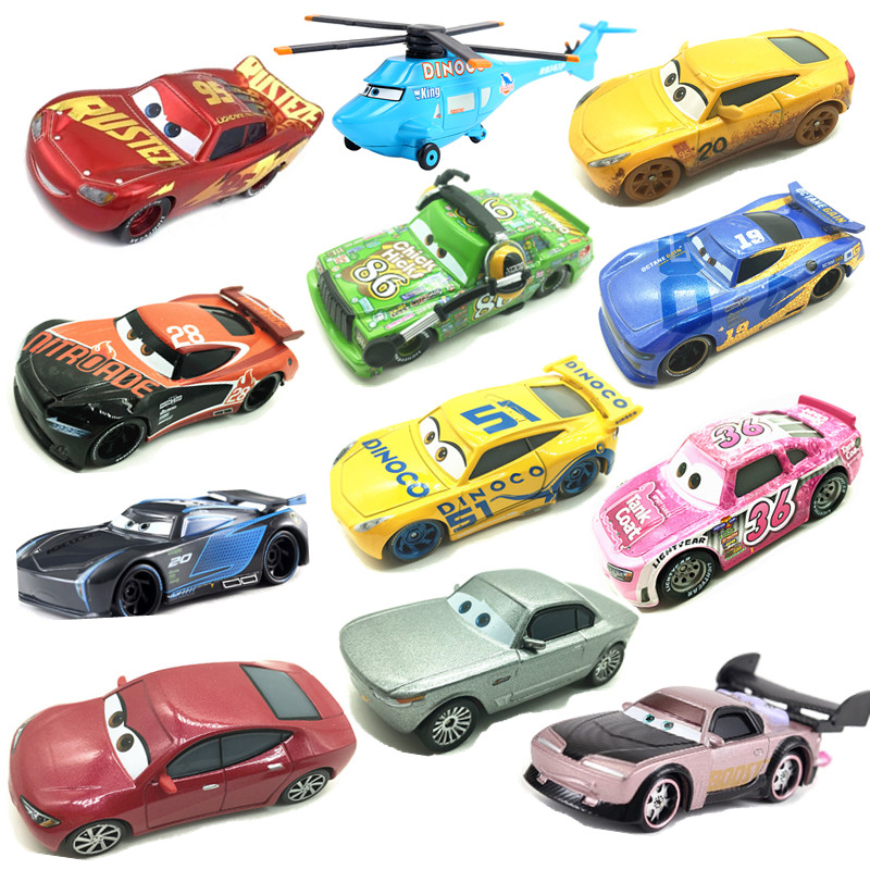 New Disney Pixar Racing 3 Lightning McQueen Racing Family Jackson Storm Ramirez 1:55 Die Cast Metal Alloy Children New Year Gift