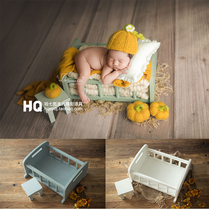 handmade-newborn-photography-bed-and-table-set-baby-photoshooting-props-infant-photo-studio-wood-crib-basket-accessories