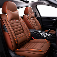 Leather car seat covers 5 seats For renault scenic 2 3 symbol talisman roewe 350 saab 9 3 9 5 alhambra altea ateca cordoba