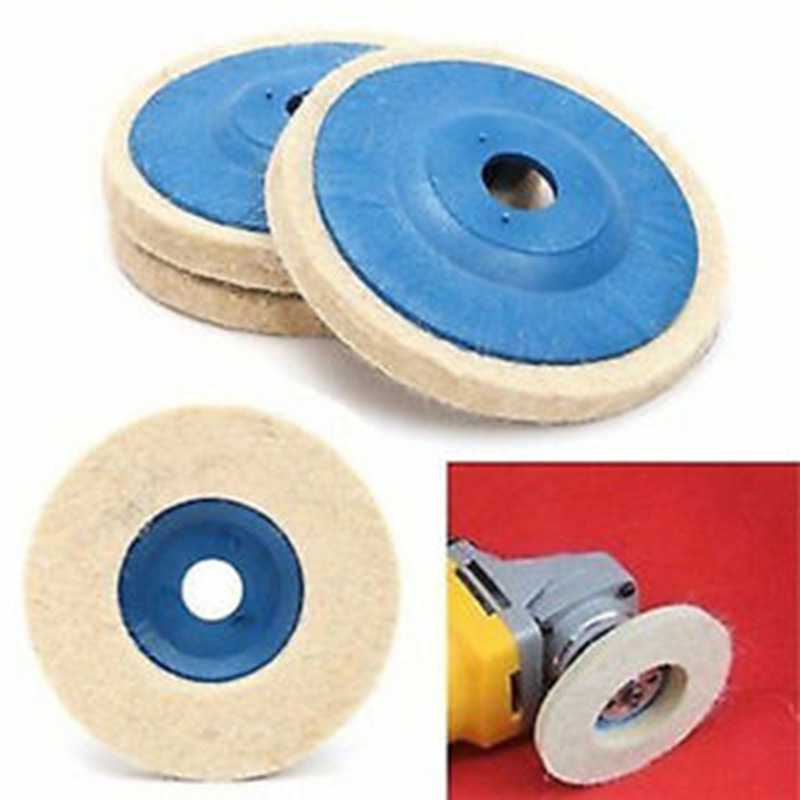 Wool Felt Buffing Wheel Pads Replacement Polishing Grinding Tools 100mm 1pc