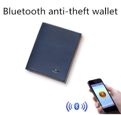 Carteira de Negócios Carteira de Couro Bolsa de Moeda Carteira de Rastreamento Bluetooth Anti-perdido Alarme Carteira Inteligente App