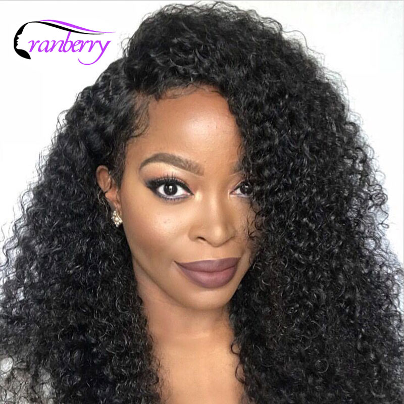 Cranberry Hair 13x4 Lace Front Human Hair Wigs 150 Density Remy Hair Brazilian Wig Kinky Curly