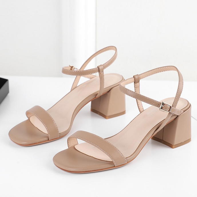 New 2020 Ankle Strap Square Heels Women Sandals Summer Shoes Women Open Toe High Heels Party Dress Gladiator Sandals H0048