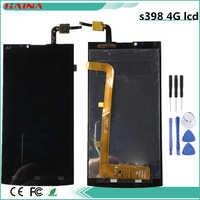 4G Lcd para Philips Xenium S398 pantalla LCD y recambio de conjunto de pantalla táctil parte color negro y herramientas