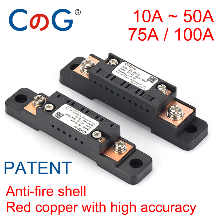 10A 15A 20A 30A 50A 75A 100A CG FL-2C 75mV Digital Voltage Meter DC Analog Ammeter Current Shunt Resistor Manufacturer With Base