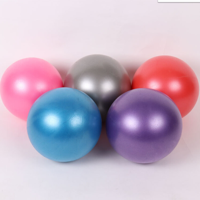 25cm Inflatable Yoga Ball Exercise Fitness Pilates Ball Balance Exercise Gym Pump Yoga Balance Ball Training Yoga Ballon