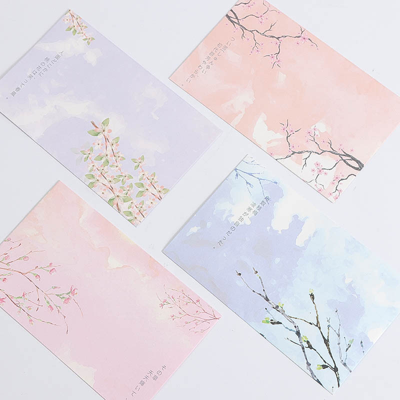 Europe And Korea Stationery Japanese Style Plum Writing Paper Envelop Package Beautiful Cute Love Letter Romantic Writing Paper