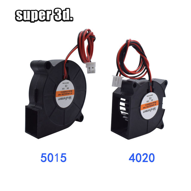 5015/4010/4020 12V&24V Cooling Turbo Fan Brushless 3D Printer Parts 2Pin For Extruder DC Cooler Blower  Part Black Plastic Fans 2