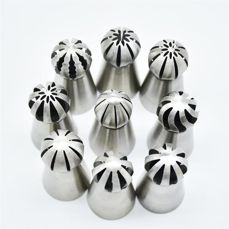Кондитерские насадки-7 видов стилей шара глазури Кондитерские наконечники из сахара, кекс декоратор Кухня Инструменты для выпечки