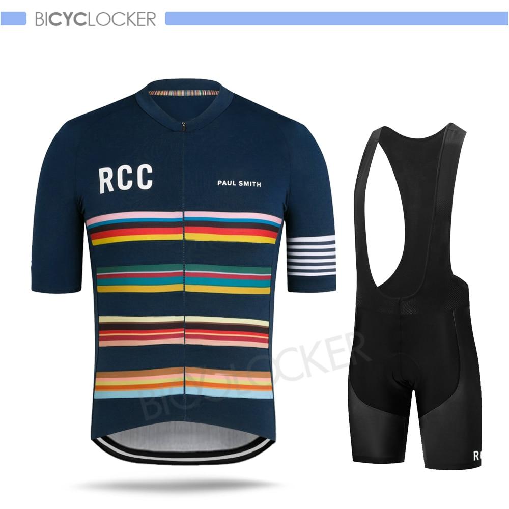 Road Bike Cycling Clothes Raphaing Rcc Men Short Sleeve Jersey Set Paul Smith Mtb Pro Team Uniform 2020 Summer Ropa Ciclismo