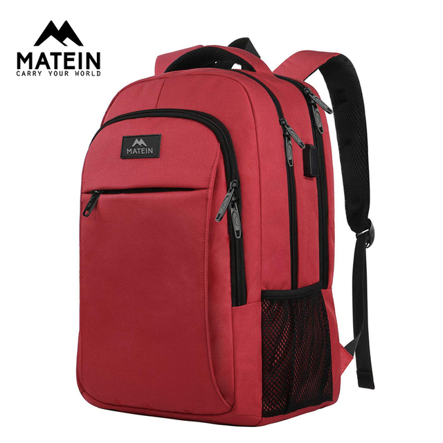 """Matein Brand USB Charging female Backpack Anti theft 15.6""""Laptop business Backpack Bag Women school bag Traveling Bags for girl"""