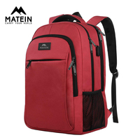 Matein Brand USB Charging female Backpack Anti theft 15.6Laptop business Backpack Bag Women school bag Traveling Bags for girl