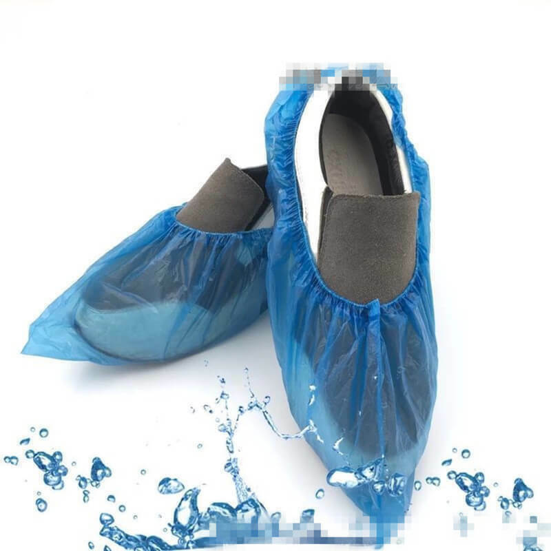 100Pcs Disposable Plastic Thick Outdoor Rainy Day Carpet Cleaning Shoe Cover Waterproof Hospital Safety Shoe Boots Cover