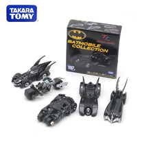 Genuine TAKTRA TOMY Dome Card Limited Collection Alloy Car Model Batman Batmobile Motorcycle Chariot Toys
