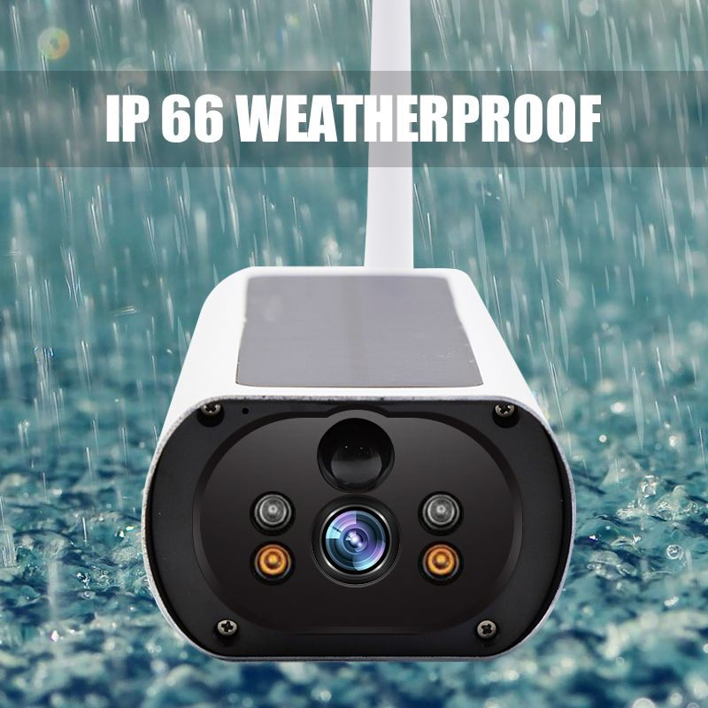2MP Solar Power 4g  Sim Card Outdoor IP Cameras Starlight Vision  P2P Waterproof Surveillance Cameras Rechargeable Camera
