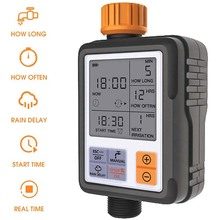 """Automatic Programmable Digital Water Timer 3"""" Large Screen IP65 Waterproof For Garden Lawn Watering System Irrigation Timer"""