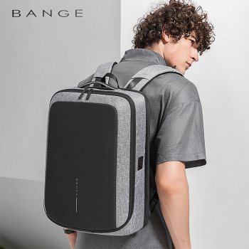 "Bange 2019 New Arrival Fashion Men 15""Laptop Backpack USB Recharge Technology Backpacks Anti-theft Waterproof Travel Backpack"