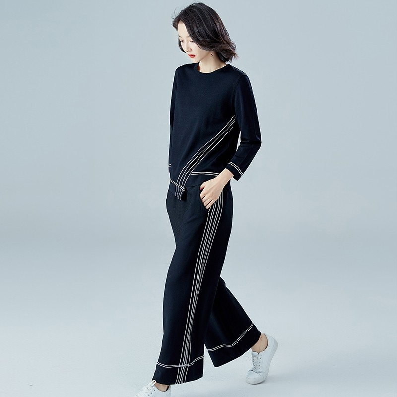WOMEN'S Suit 2020 Spring New Style Trend Korean-style WOMEN'S Wear Graceful Sports Fashion Leisure Suit Two-Piece Set