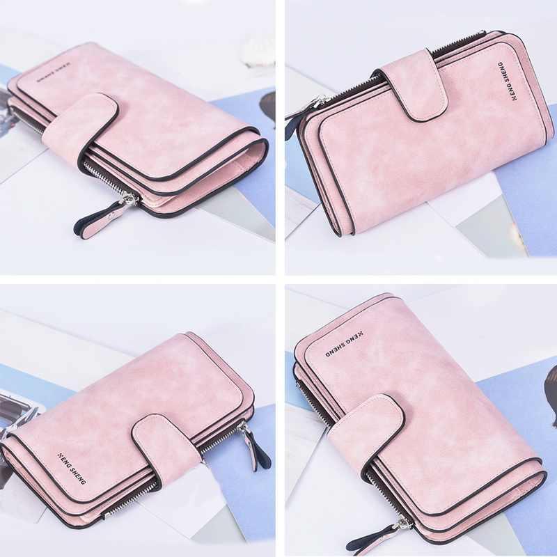 Moda kadın cüzdan uzun cüzdan kadın çanta Pu deri cüzdan büyük kapasiteli bayanlar bozuk para çantaları telefon debriyaj