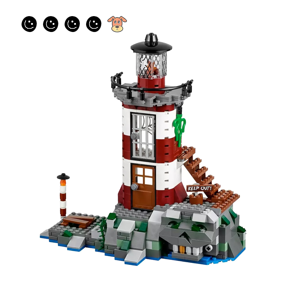 Bela 10431 Compatible 75903 Scooby Doo Haunted Lighthouse Box Animal Dog Figures 437Pcs Building Blocks Toys For Children Gift
