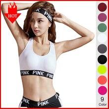 Soutien-Gorge Push-Up Sexy pour femmes, sous-vêtement confortable avec lettres roses, hauts