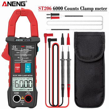 ANENG ST206 Digital Multimeter Clamp Meter 6000 counts True RMS Amp DC/AC Current Clamp measure dc amperimetro tester voltmeter uni t ut89x ut89xd true rms digital multimeter true rms tester ac dc voltmeter ammeter 1000v 20a frequency led measure