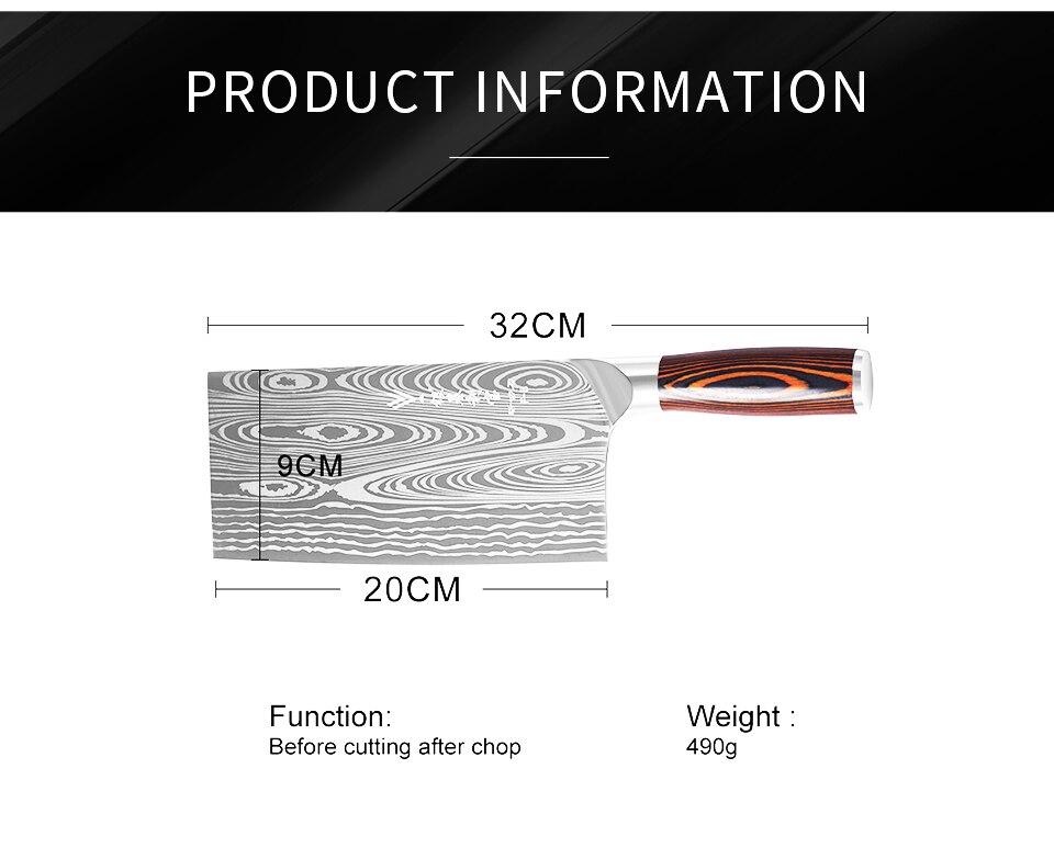 Chef knife measurements