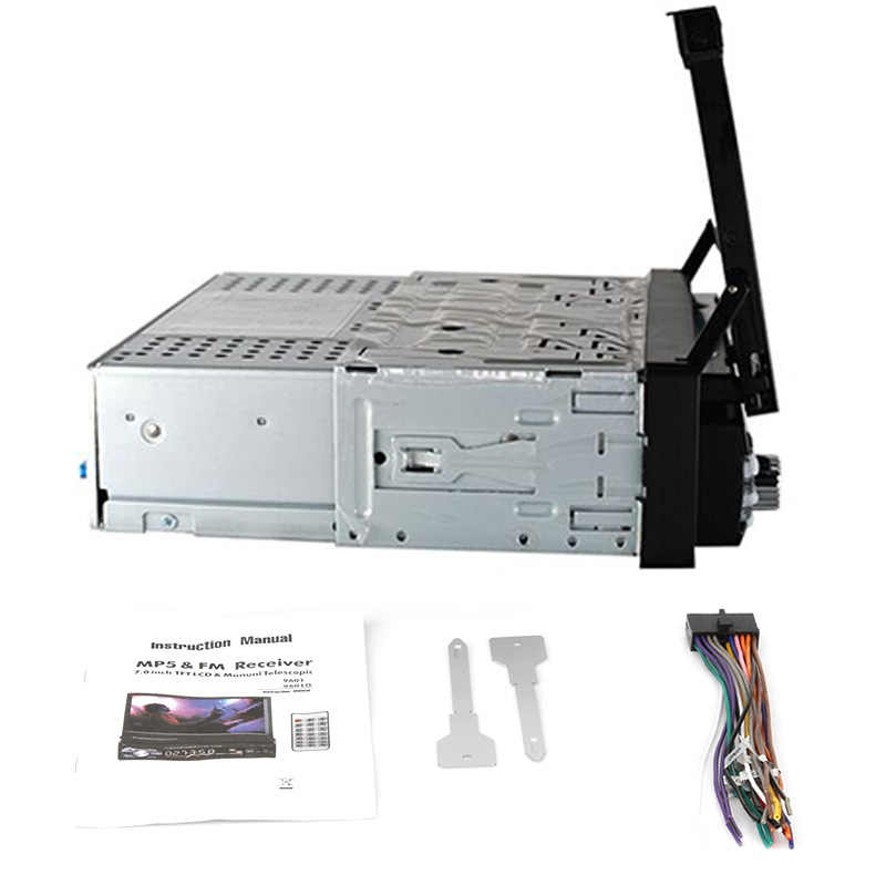 Een Din Auto Radio MP5 Speler 1 Din Car Audio Stereo Multimedia 7 Inch Hd Intrekbare Autoradio Bluetooth Fm Usb sd AUX-IN