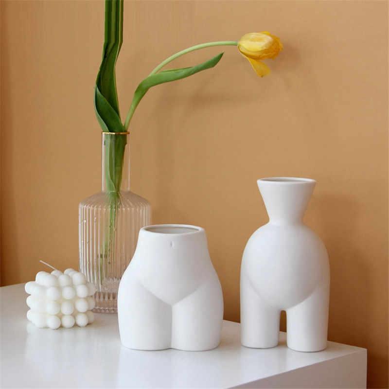 Bao Guang Ta Ceramics Woman Body Art Ass Figurines Body Art Vase Decoration Crafts Flower Vase Home Decoration Accessories R5276 Aliexpress