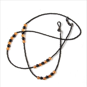 Image 2 - Ретро окуляры держатель шнура шейный ремень веревка модные шикарные женские очки солнечные очки с цепочкой для чтения бисером Смола цепочка для очков