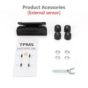 Image 5 - Jansite Tpms Originele Draadloze Hd Solar Auto Bandenspanning Alarm Monitor Systeem Display Turn Op Met De Trillingen Met 4 sensoren