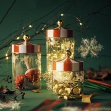Sealed Storage Jar Glass Transparent Coffee Bean Grain Container Set Christmas Moisture-proof jar Carousel Glass Foods Bottle