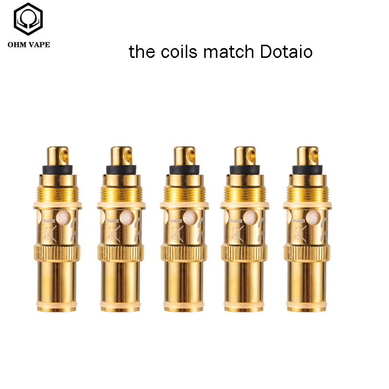 5pcs/lot Original Ohmaio Pod Vape Kit Replacement Coils 0.3 Cotton 1.5ohm Ceramic Head For Ohm Aio/dotmod Aio Pod Vaporizer