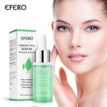 EFEROสีเขียวชาSerumเซรั่มหน้าเด็กหดรูขุมขนสิวMoisturizing Face Essence Brighten Skin Careเซรั่มบำรุงผิวหน้า