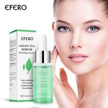 EFERO zielona herbata Serum wybielający krem do twarzy zmniejszyć pory usunąć trądzik nawilżający esencja do twarzy kosmetyk rozjaśniający cerę Serum do twarzy