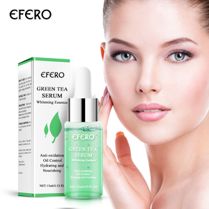 Image 1 - Efero緑茶血清美白顔クリームシュリンク毛穴削除にきび保湿フェイス明るくスキンケア顔血清