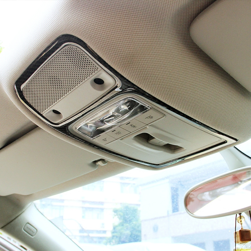 Todayday Light and Beautiful Car Carbon Fiber Roof Light Decorative Frame for Audi A3,Easy to Install