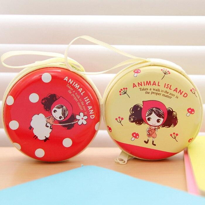Tinplate Coins Cute Pula Round Bag Earphone Bag Wallet Creative Wallet
