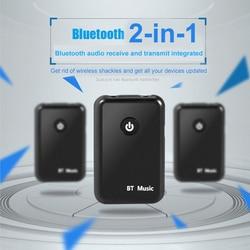 VIKEFON Bluetooth récepteur émetteur sans fil Bluetooth 4.2 Audio 2 en 1 émetteur 3.5mm Jack voiture TV PC musique AUX adaptateur