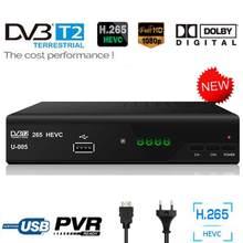 Europa DVB-T2 eac3 além de tv digital receptor conversor caixa dvb t2 tuner DVB-T2 h.265 hevc tv decorder ac3 compatível dvb-t h.264