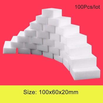 100 unids/lote esponja de melamina Borrador de esponja mágico esponja de melamina limpiador esponja de baño accesorios de cocina