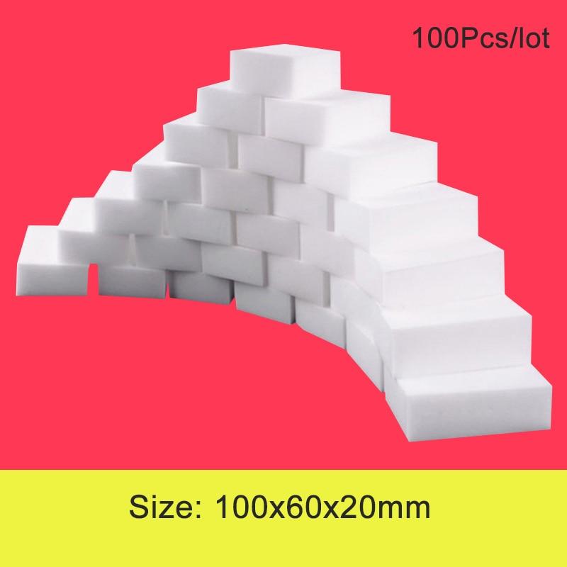 Esponja de melamina, esponja mágica de melamina para limpeza de banheiro e cozinha, 100 peças/lote