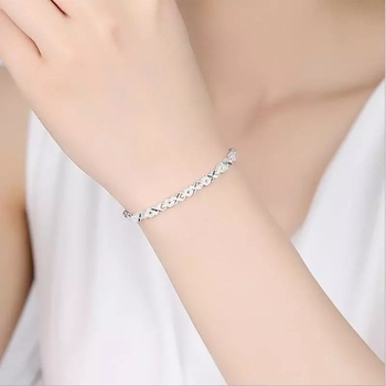 925 Sterling Silver Zircon Cross bracelet 5