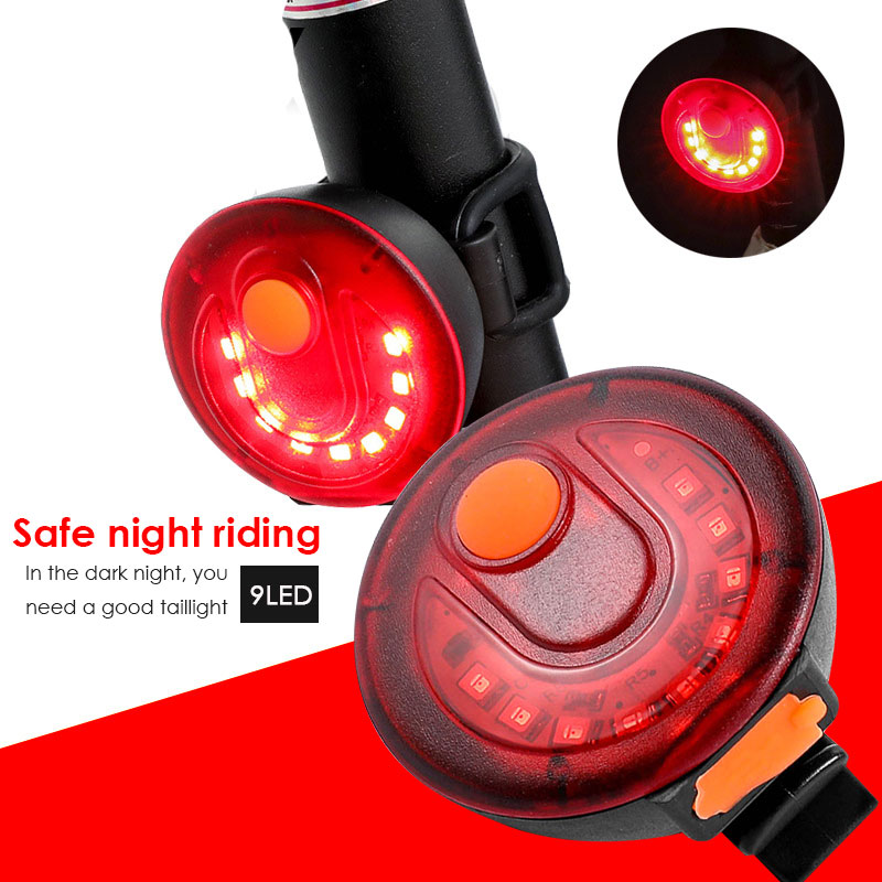 Cycling USB Taillight Bike Warning Light Cycling LED Taillight Waterproof Durable Rechargeable Black Red 150 Lm ABS StreetPark