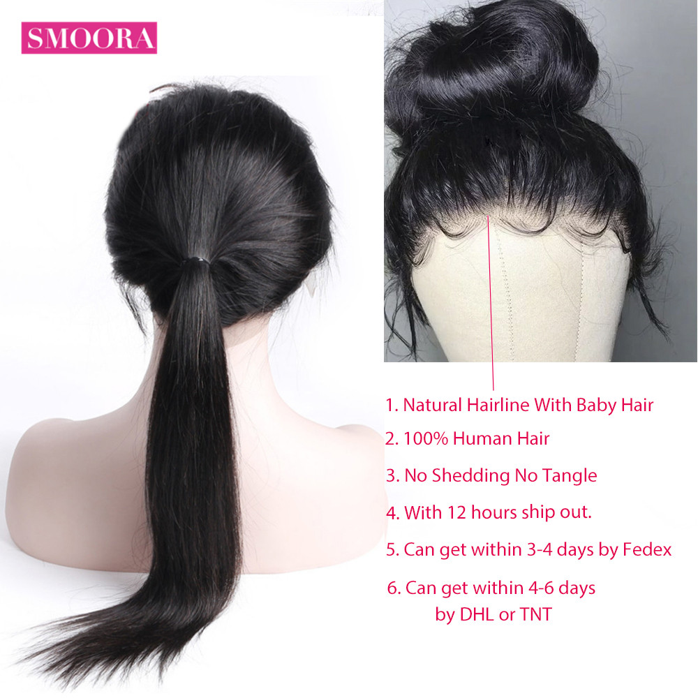 13x4 Lace Front  Wigs  150% Density   Straight Hair Lace Frontal Wigs With Baby Hair Smoora 3