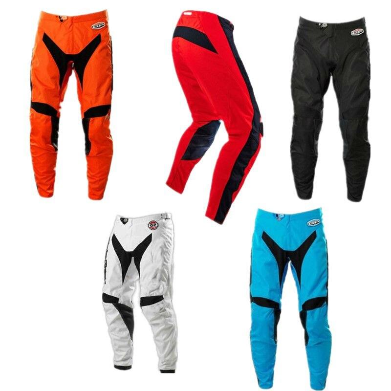 Новое поступление топ Мотокросс штаны для спуска с горы Прохладный MTB полиэстер MX DH брюки ATV XC BMX внедорожные мотоциклетные брюки для верхово...