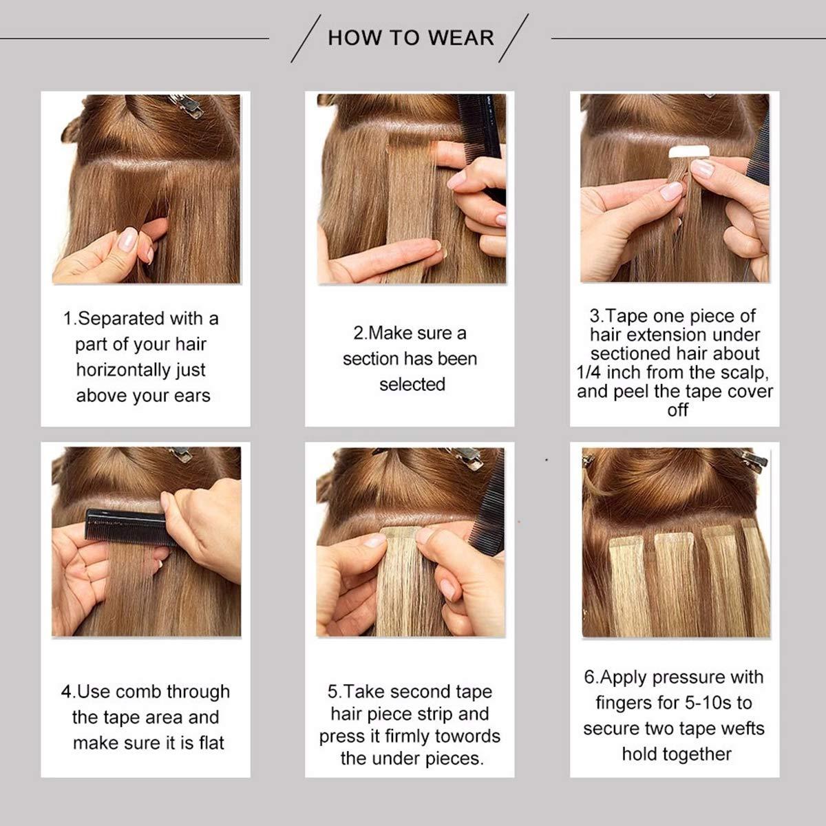 remy pele trama cola adesiva no cabelo 12